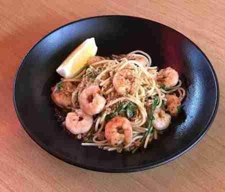Spaghetti with Prawns & Rocket 1